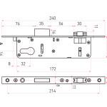 Схема замка врезного дверного ролик