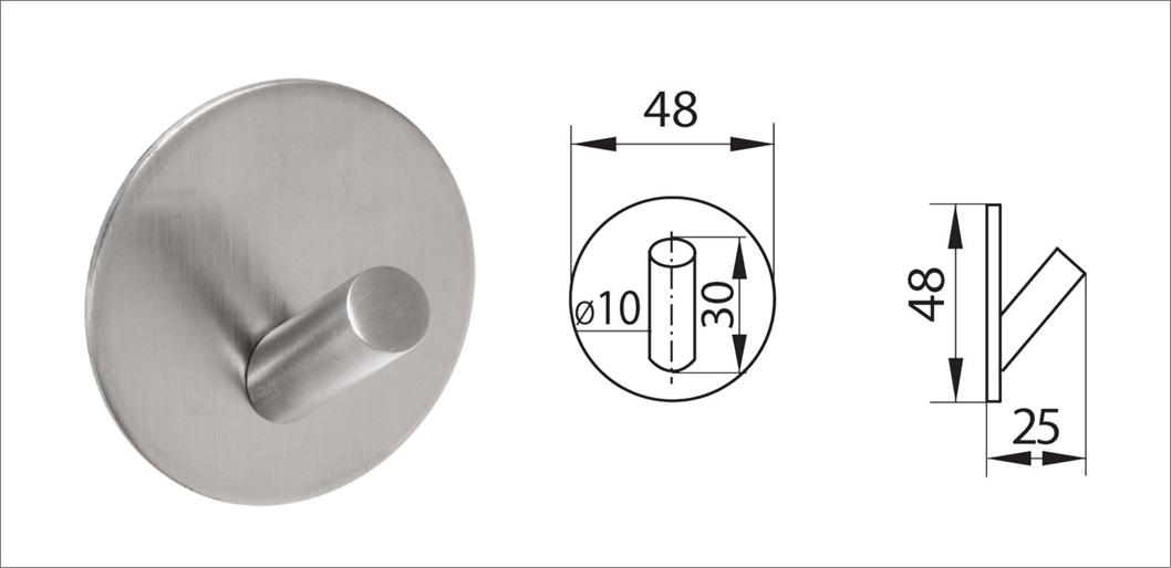 Вешалка-крючок без сверления ha-hr-160