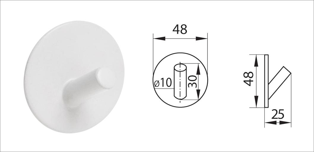 Вешалка-крючок без сверления ha-hr-161