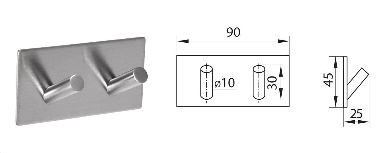 Вешалка-крючок без сверления ha-hr-151