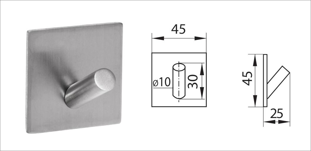 Вешалка-крючок без сверления ha-hr-150